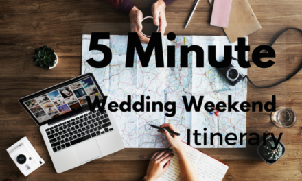 The 5 Minute Wedding Weekend Itinerary