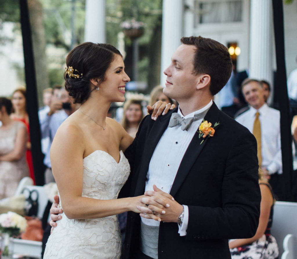 Founders of WedTexts, Caleb and Kelly White share their first dance at their wedding