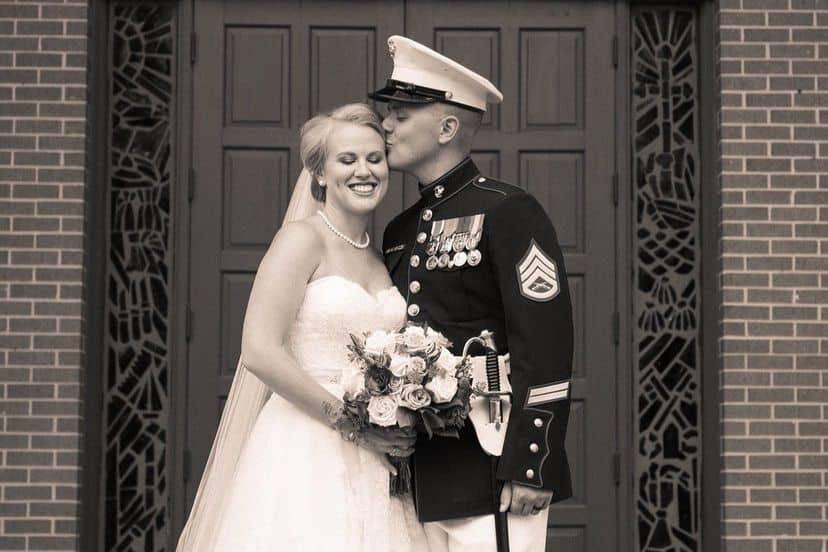 Kristen Schuette Loflin wedding lost family heirloom
