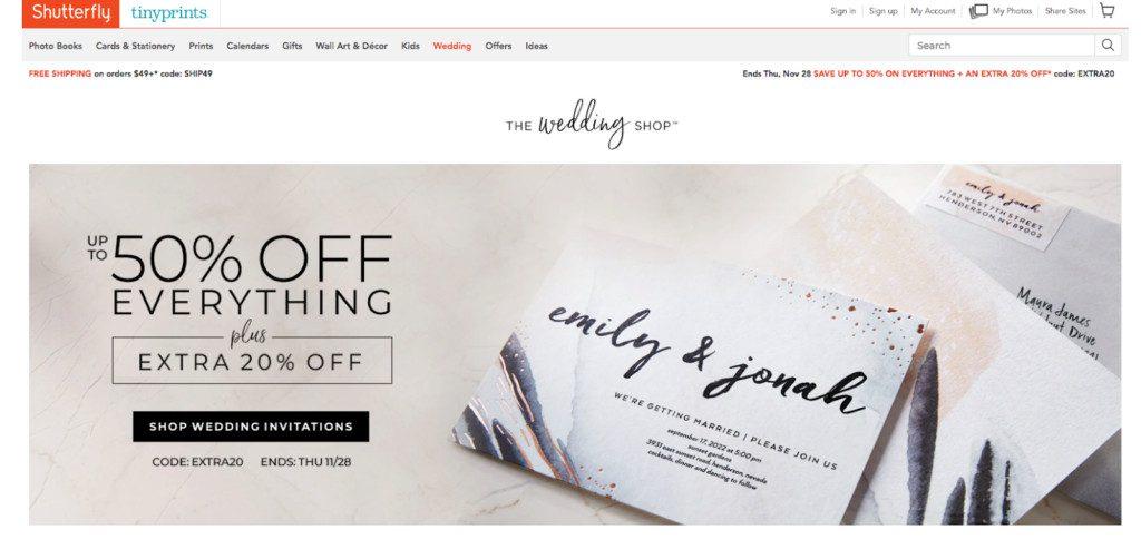 wedding stationery shutterfly