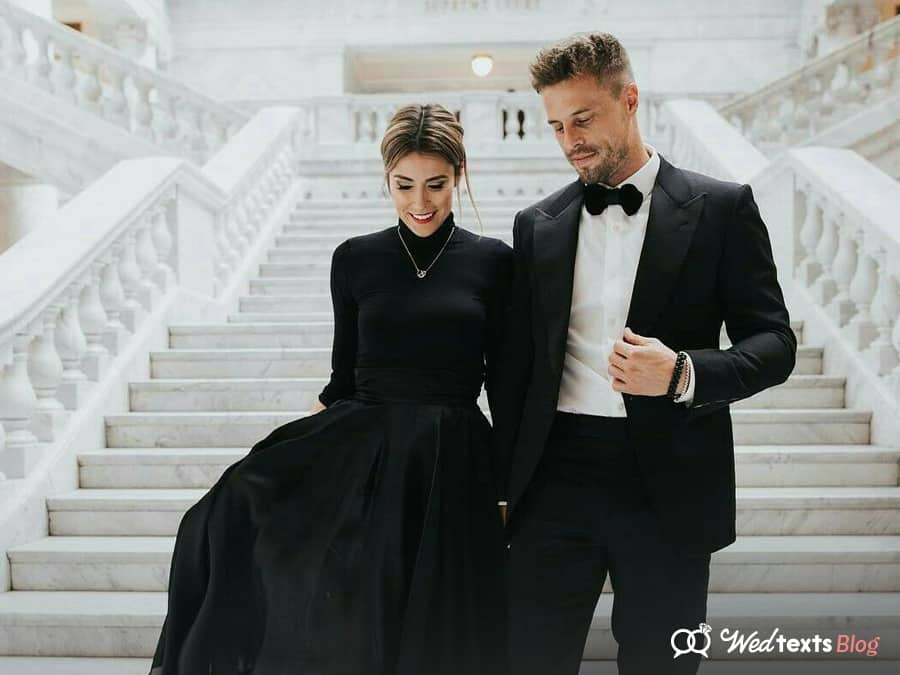 """What is Black-tie Attire for a Wedding? – Your Wedding Guests' FAQs<span class=""""wtr-time-wrap block after-title""""><span class=""""wtr-time-number"""">5</span> min read</span>"""