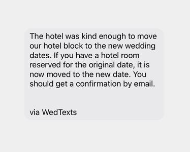wedding postponed because of coronavirus