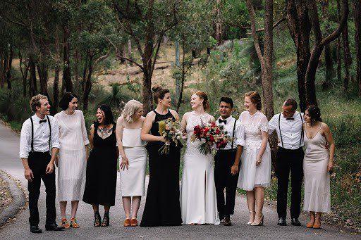 same-sex-wedding bridal party