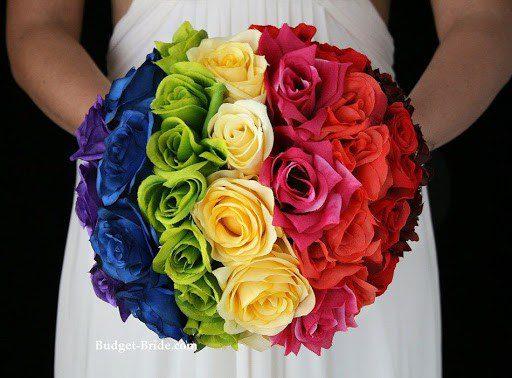 show pride rainbow bouquet