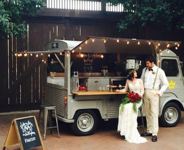 food truck serving food at your wedding reception