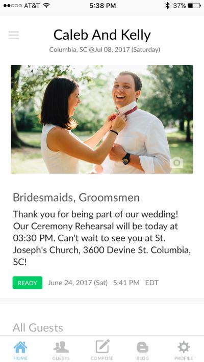 Wedding reminders for DIY weddings