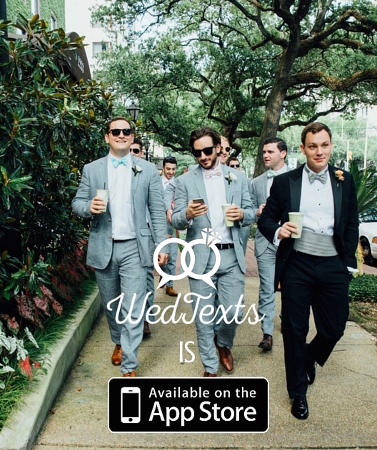 WedTexts is available on the app store